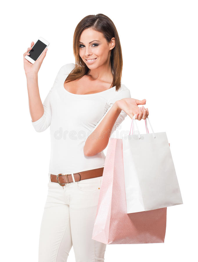 Cliente feliz fresco. imagem de stock