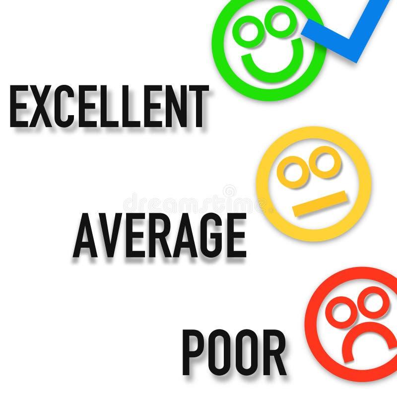Cliente feliz, objetivos, trabalhos de equipe - cartaz da imagem do negócio, qualidade super ilustração do vetor