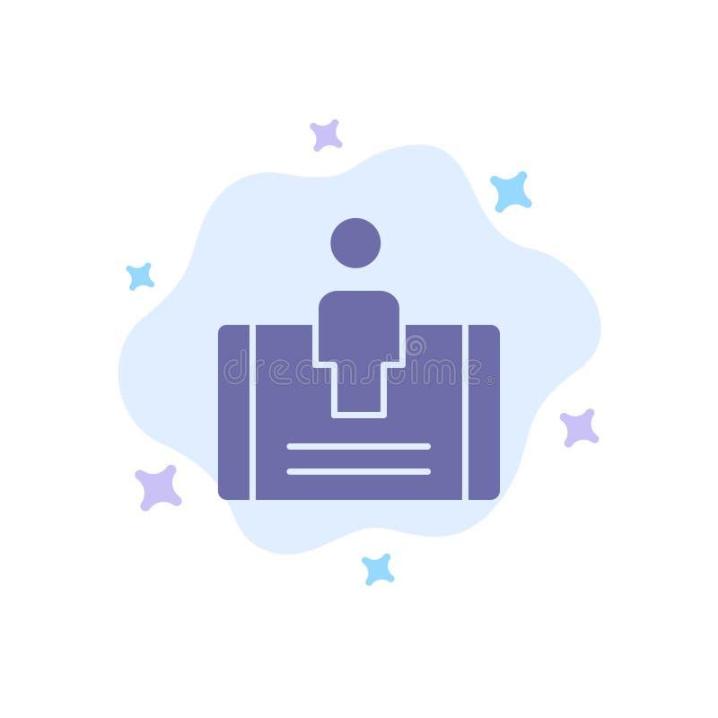 Cliente, impegno, cellulare, icona blu sociale sul fondo astratto della nuvola royalty illustrazione gratis