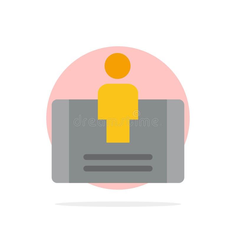 Cliente, impegno, cellulare, icona piana di colore del fondo astratto sociale del cerchio illustrazione vettoriale