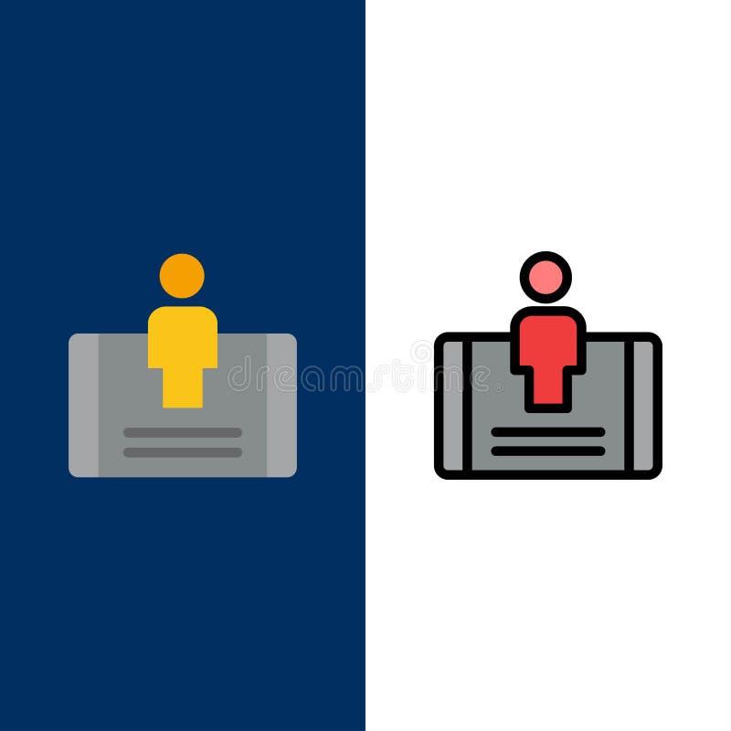 Cliente, impegno, cellulare, icone sociali Il piano e la linea icona riempita hanno messo il fondo blu di vettore royalty illustrazione gratis