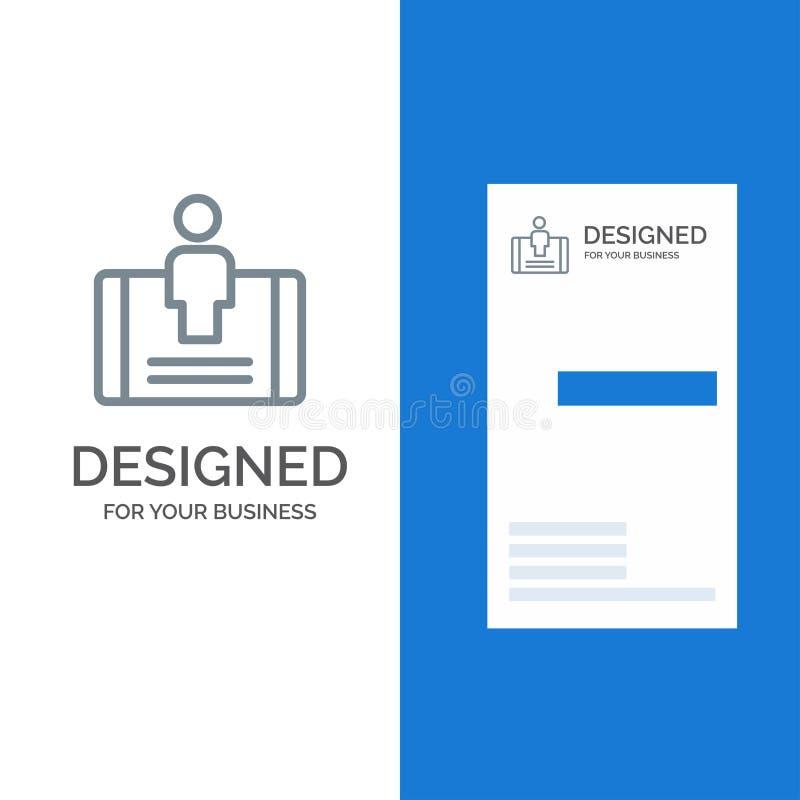 Cliente, impegno, cellulare, sociale Grey Logo Design e modello del biglietto da visita royalty illustrazione gratis