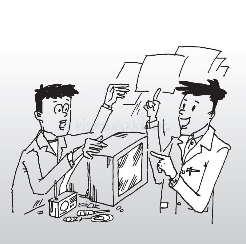 Cliente nel workshop di riparazione illustrazione di stock