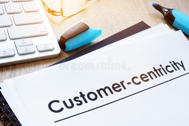 Cliente no conceito do foco Cliente-centricity imagem de stock royalty free