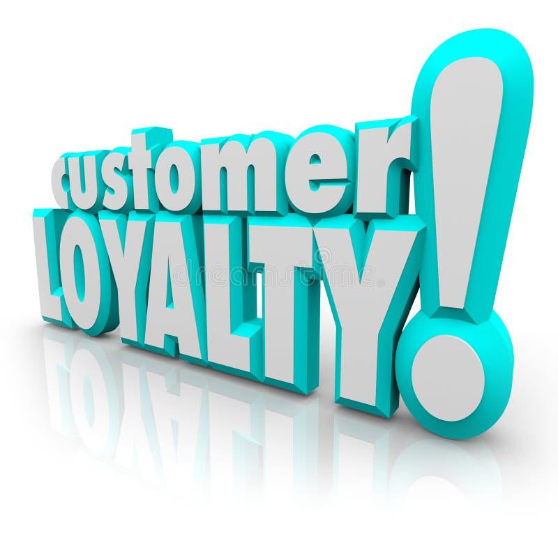 Cliente satisfecho negocio de la repetición de la vuelta de la lealtad del cliente ilustración del vector