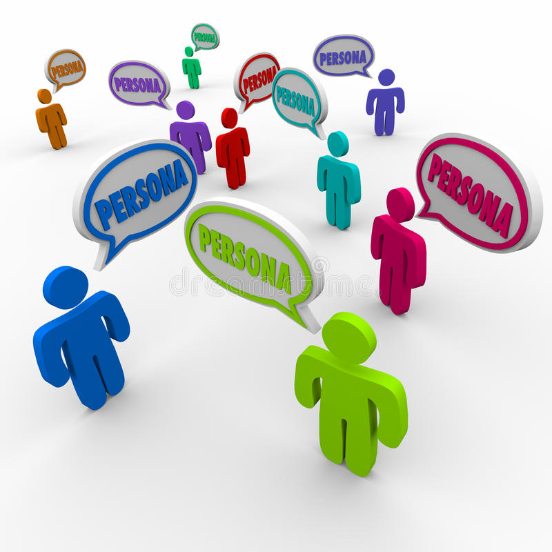 Clientes del perfil de clientes de la gente de la burbuja del discurso del personaje del comprador stock de ilustración