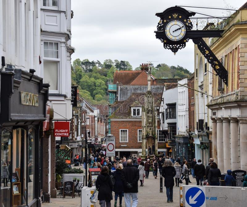 Clientes em Winchester imagens de stock royalty free