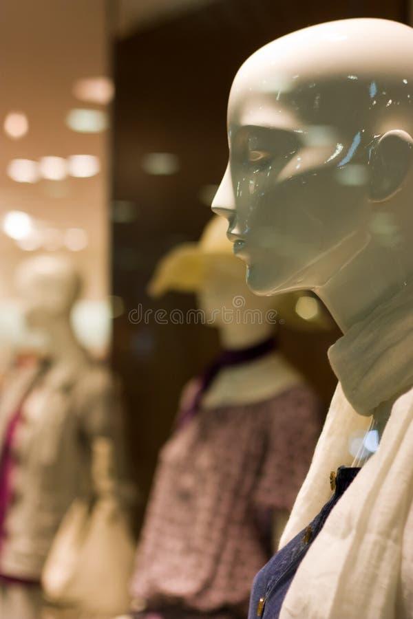 Clienti di plastica felici! immagine stock