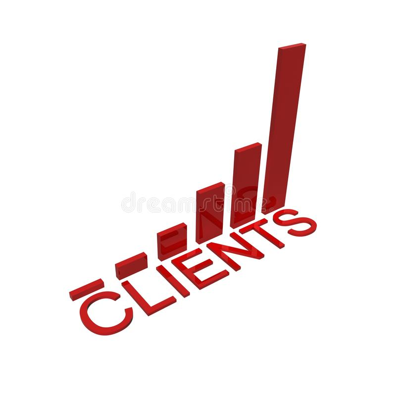 Clients success graph royalty free stock photography