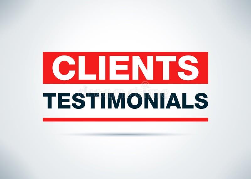 Clients Testimonials Abstract Flat Background Design Illustration. Clients Testimonials Isolated on Abstract Flat Background Design Illustration vector illustration