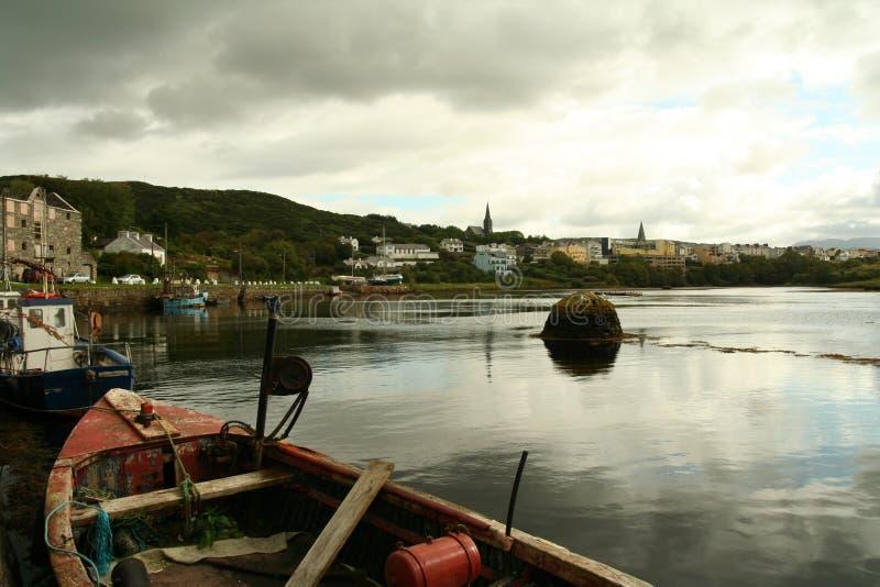 Clifden harbor stock photo