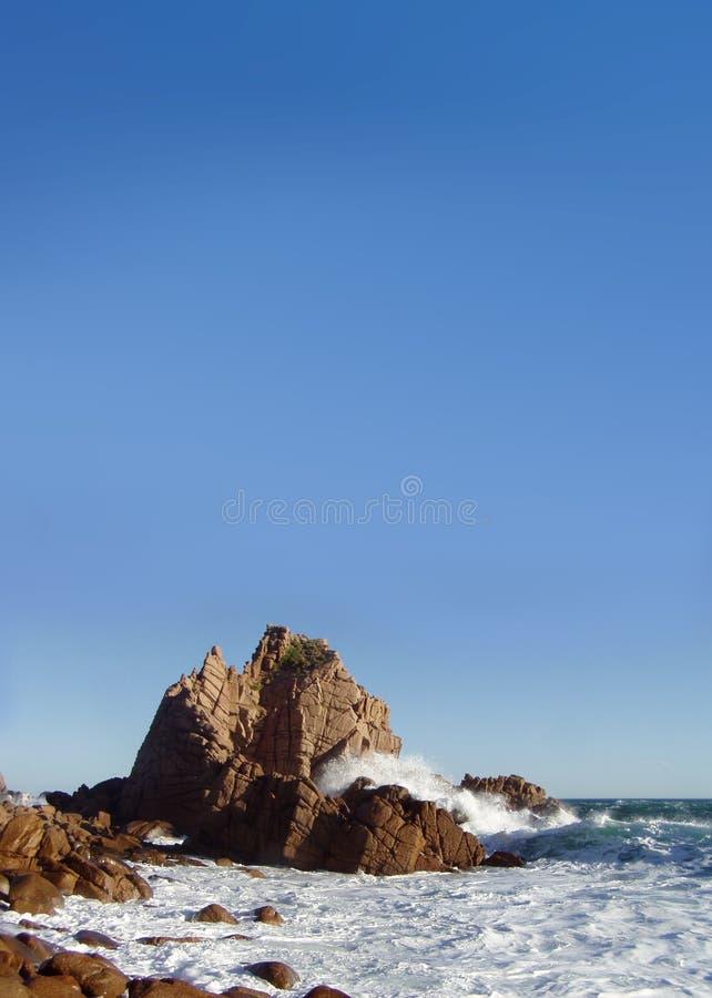 Cliff. On Phillip Island Australia stock photography