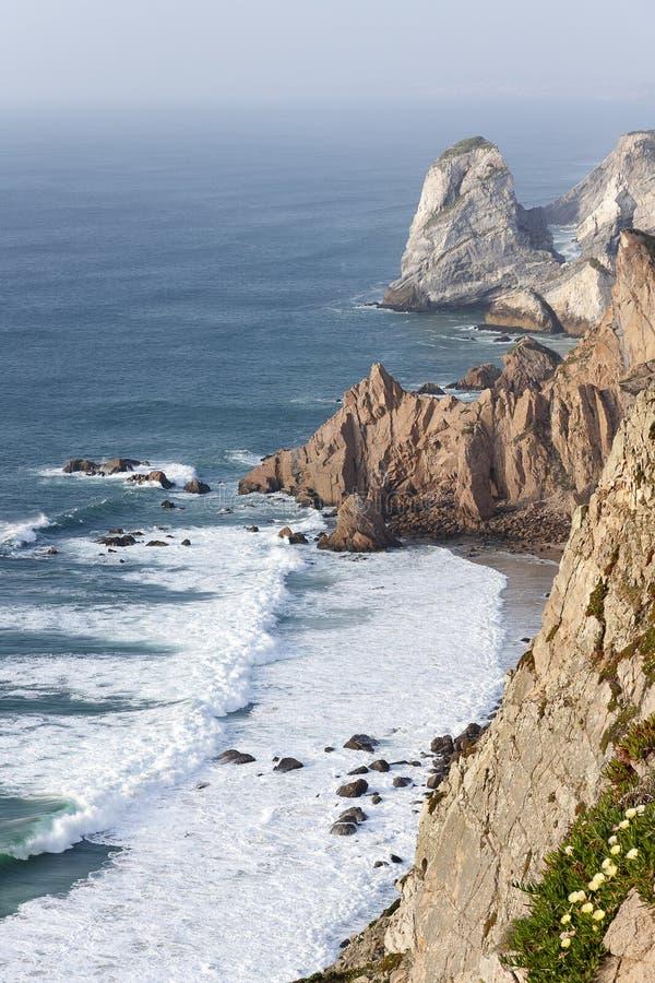 Cliff at Cabo da Roca stock photo