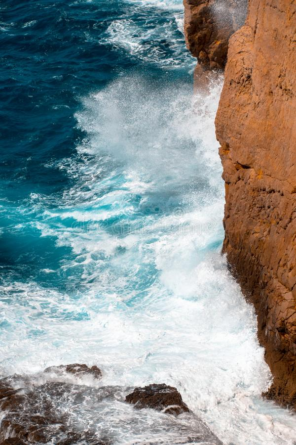 Cliff at Cabo de Sao Vicente near Sagres stock image