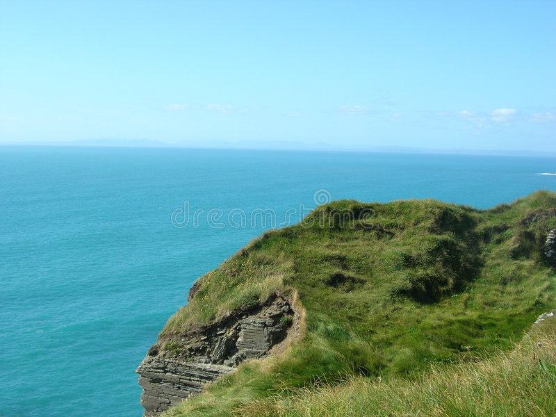 Cliff in County Clare royalty free stock image