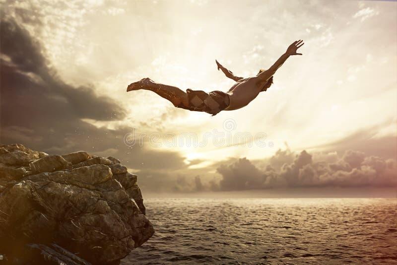 Cliff Diver imagens de stock