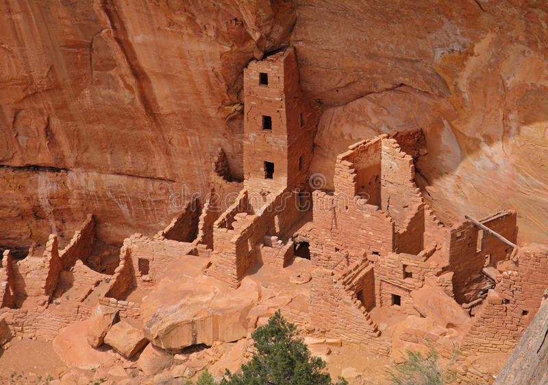 Cliff Dwellings At Mesa Verde National Park USA Stock Image Image