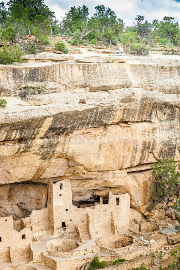 Cliff dwellings in Mesa Verde National Parks, CO, USA. Cliff dwellings in Mesa Verde National Parks, Colorado, USA stock photography