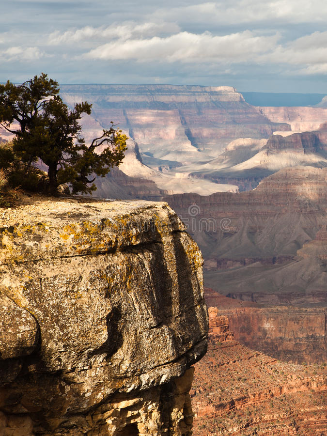 Cliff Edge. At Grand Canyon National Park. Picture shows a sharp drop off the side stock image