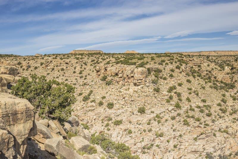 Cliff edge at Black Dragon canyon. Utah, United States stock photography