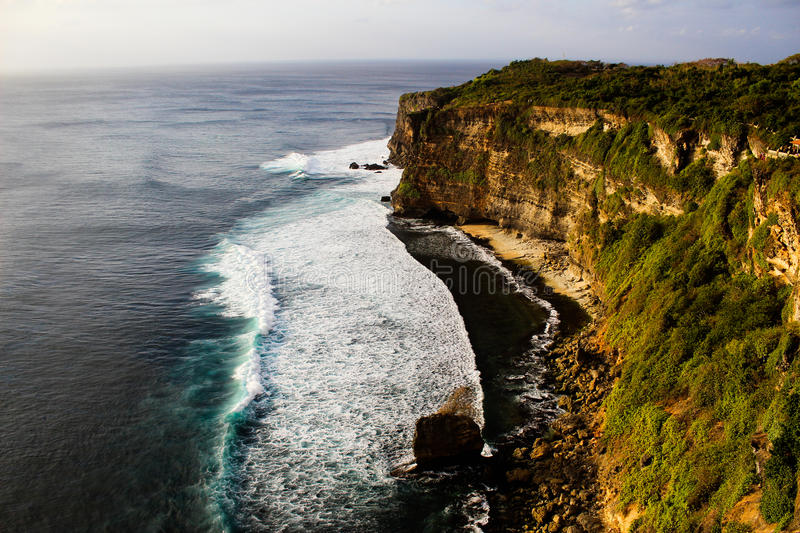 Cliff Edge. And the ocean in Bali, Indonesia stock photo