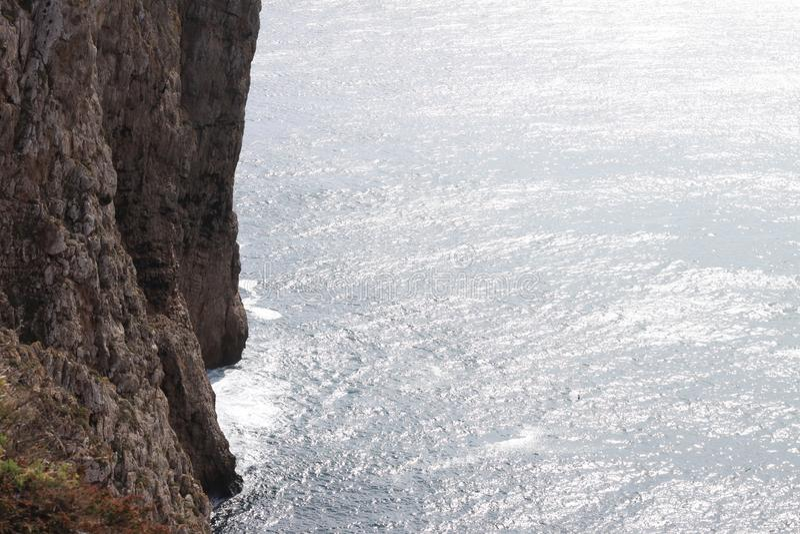 Cliff edge views, Portugal stock image