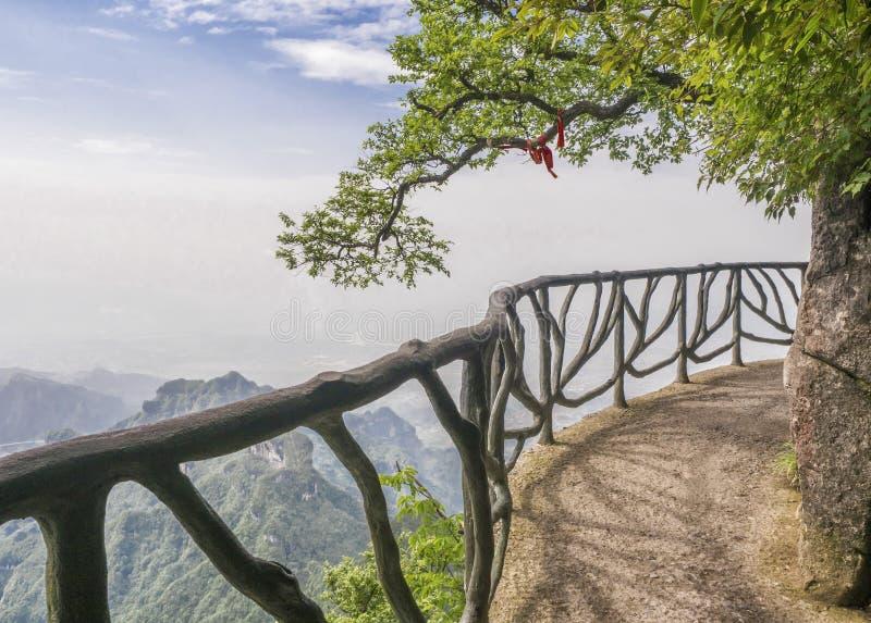 The Cliff Hanging Walkway at Tianmen Mountain, The Heaven`s Gate at Zhangjiagie, Hunan Province, China, Asia.  stock photos