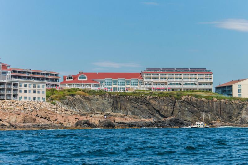 Cliff House Hotel in Ogunquit, Maine stock foto's