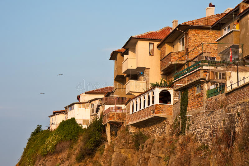Download Cliff Houses at Sunset stock photo. Image of hotel, landscape - 11006818