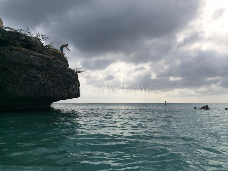 Cliff Jumping fotografia de stock
