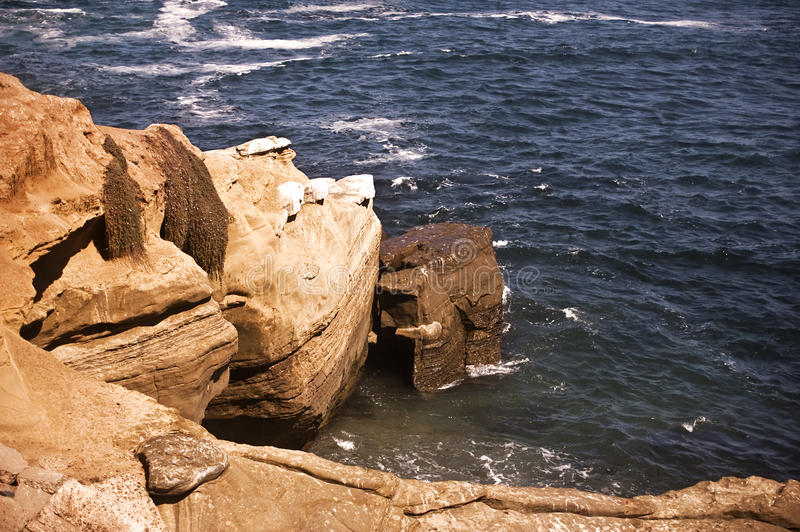 Cliff At La Jolla Cove Stock Photo