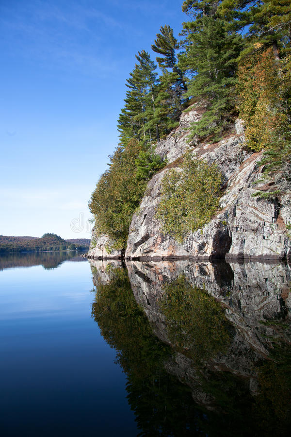 Download Cliff on the lake stock image. Image of cliff, ontario - 21402077