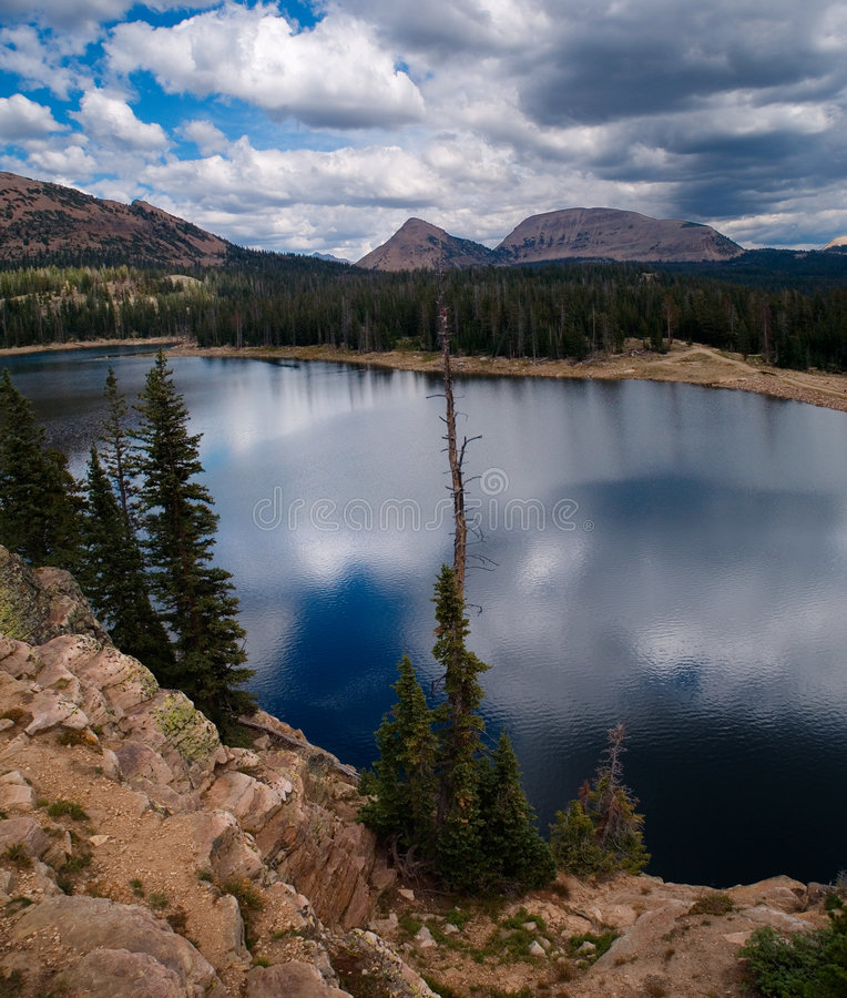 Download Cliff Lake view stock photo. Image of uinta, high, altitude - 374864