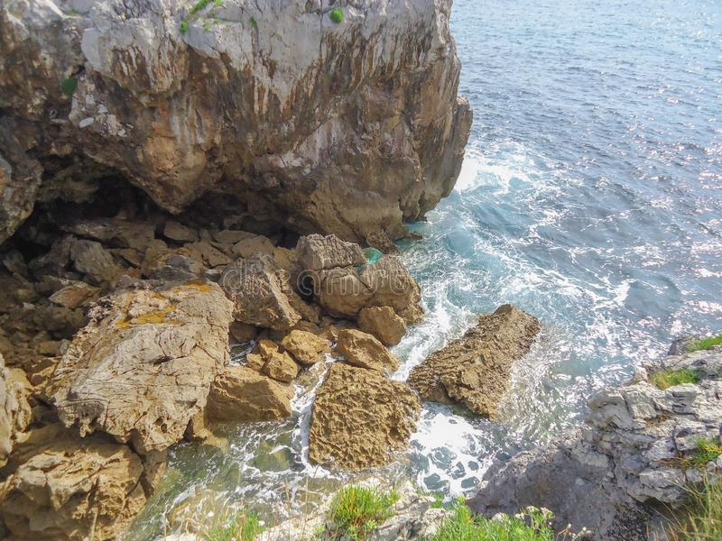 Cliff in Llanes Asturias stock photos