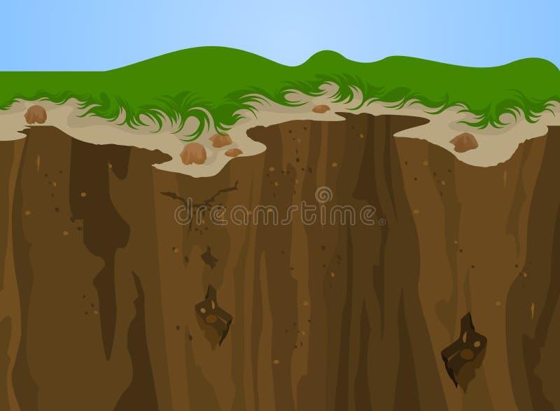 Cliff nature. Illustration Cliff nature, Landscape background stock illustration