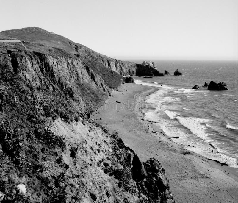 Cliff near Bodega Bay California stock photography
