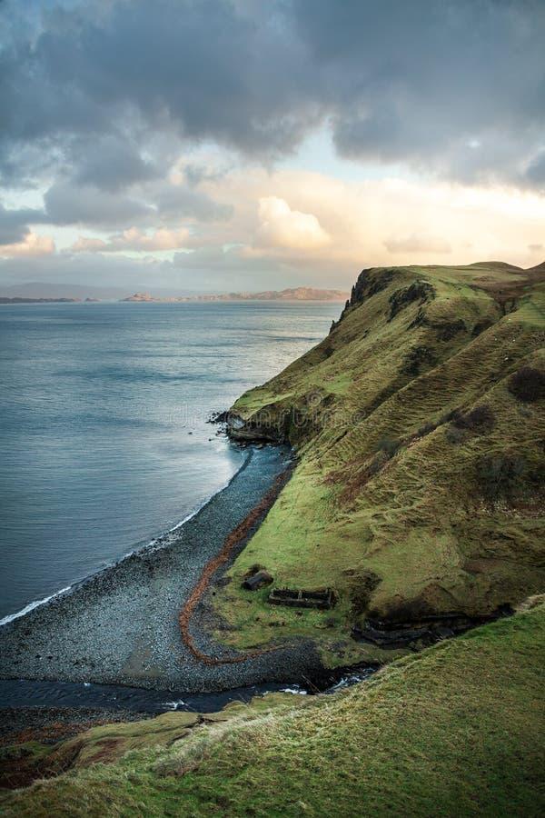 Cliff Near Body of Water stock photos