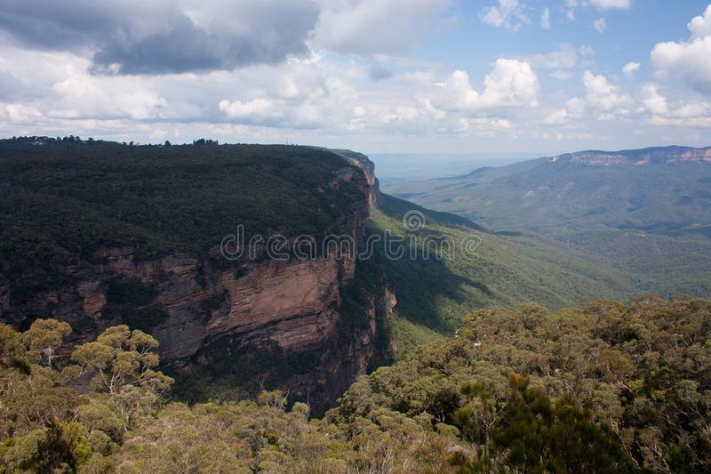 A cliff near the Wentworth Falls in the Blue Mountains in Australia. A cliff near the Wentworth Falls in the Blue Mountains in New South Wales in Australia royalty free stock photography