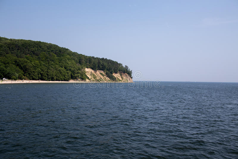 Cliff, one of the fishermen's settlements on Polish coast. royalty free stock photo