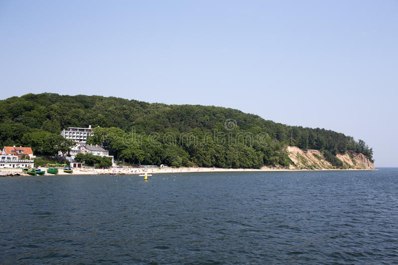 Cliff, one of the fishermen's settlements on Polish coast. royalty free stock photography