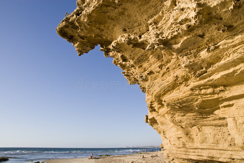 Download Cliff over the coast stock image. Image of yellow, steep - 5256089