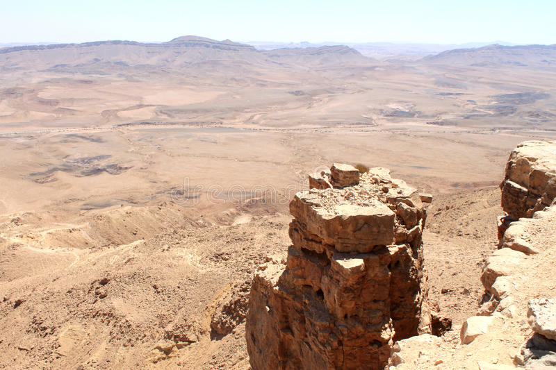 Cliff Over Ramon Crater royalty free stock images