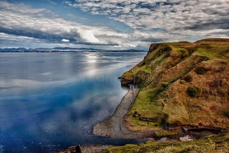 Cliff over waterfront royalty free stock images