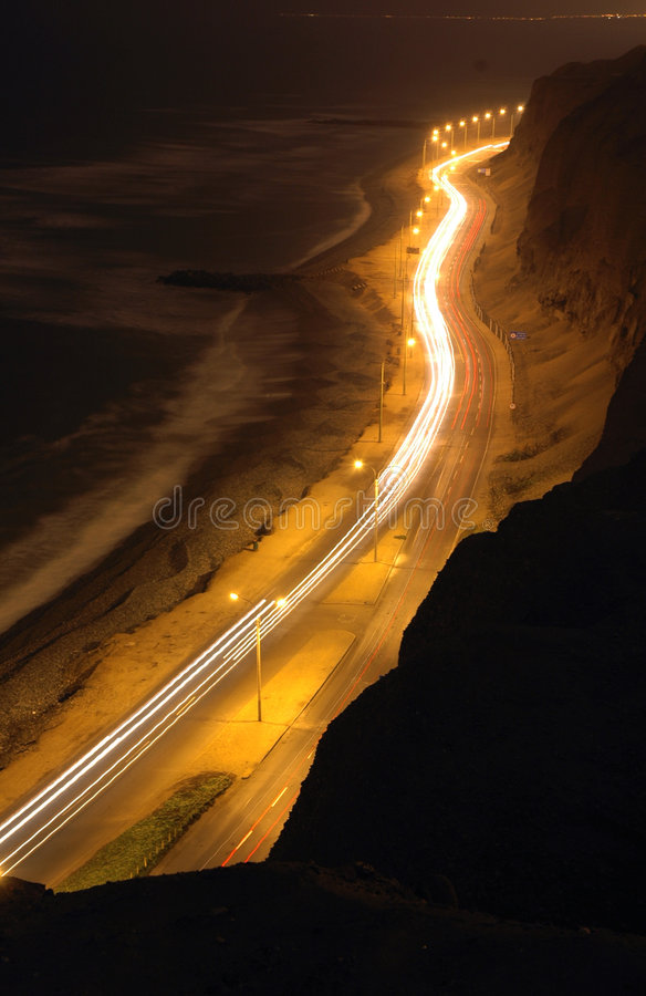 Download Cliff Of Pacific Ocean On Night #2 Royalty Free Stock Image - Image: 192996