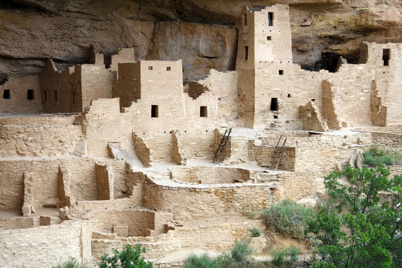 Cliff Palace. In Mesa Verde National Park, Colorado royalty free stock photo