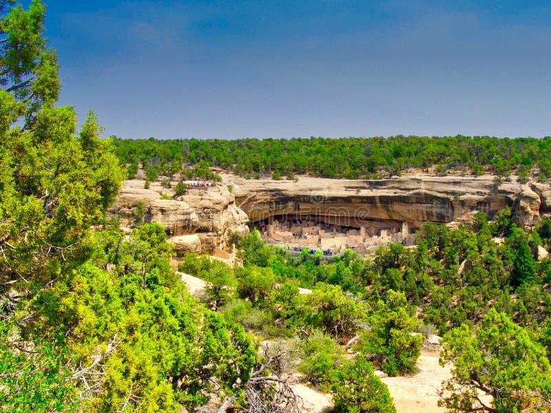 Cliff Palace Across Canyon imagem de stock