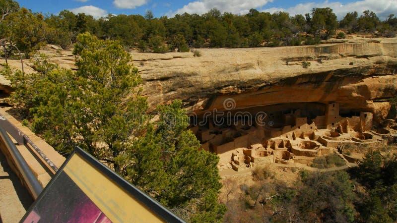 Cliff Palace View From Observation punkt fotografering för bildbyråer