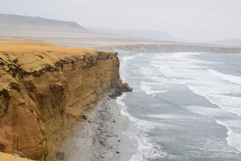 Cliff of paracas in peru 2 royalty free stock image