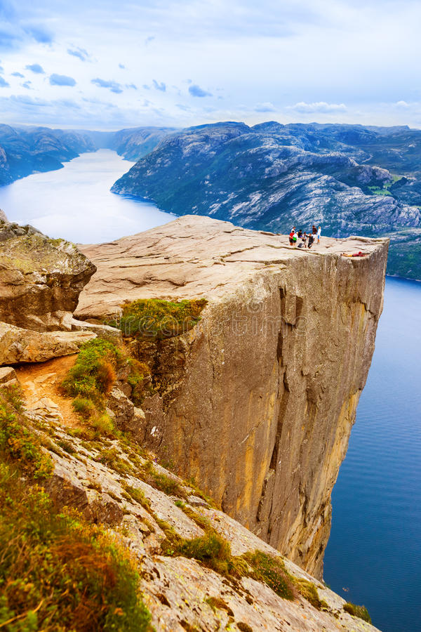 Free Cliff Preikestolen In Fjord Lysefjord - Norway Royalty Free Stock Photography - 90513247