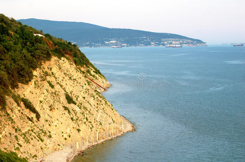 The cliff on the sea royalty free stock images